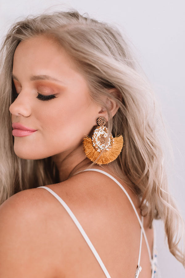 Better In Brighton Earrings In Mustard