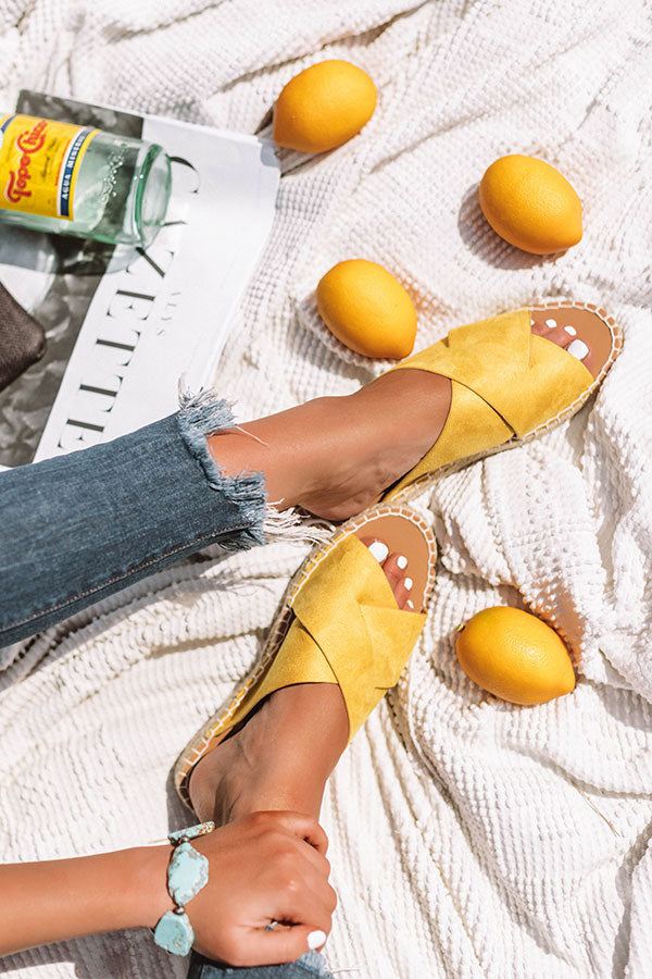 The Zara Sandal In Yellow
