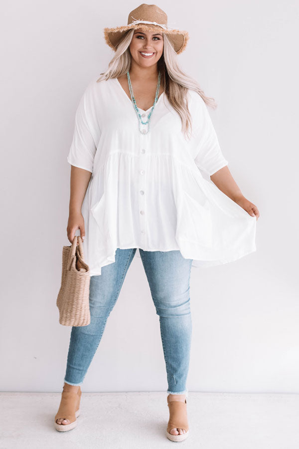 Summer In Sicily Tunic Dress In White