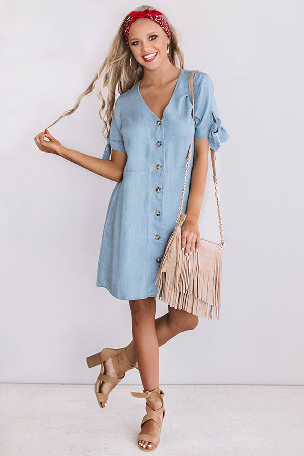 The Social Life Chambray Dress