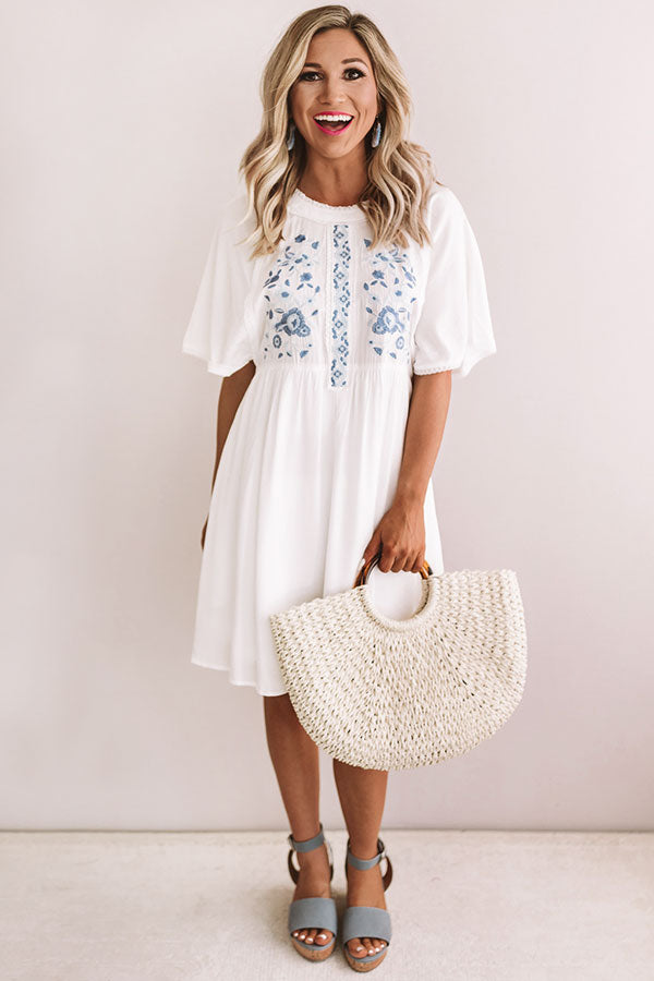 Road Trip To Paradise Embroidered Dress
