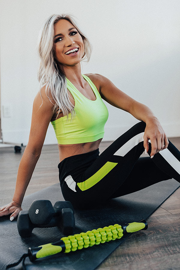 Boss Babe Sports Bra in Neon Yellow