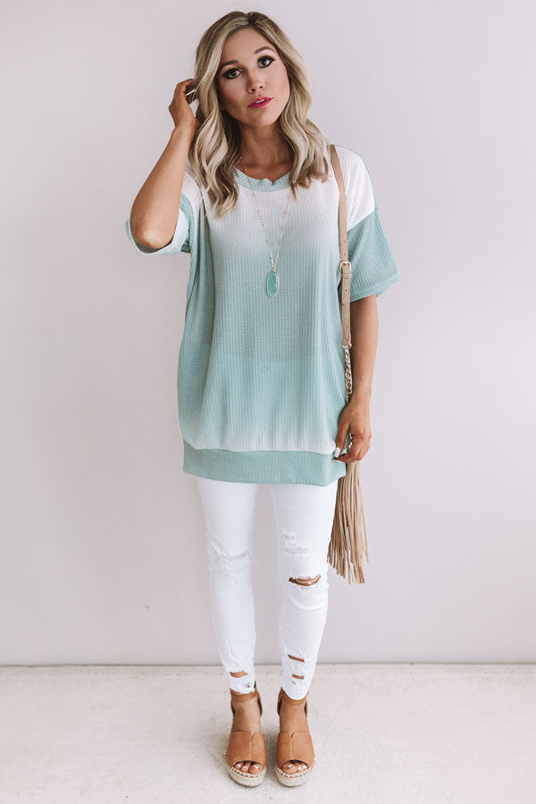 Catching Waves Ombre Tunic Top in Pear