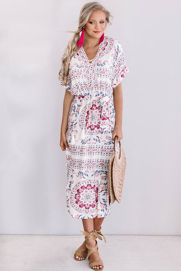 Cooler In Capri Midi Dress In Ivory