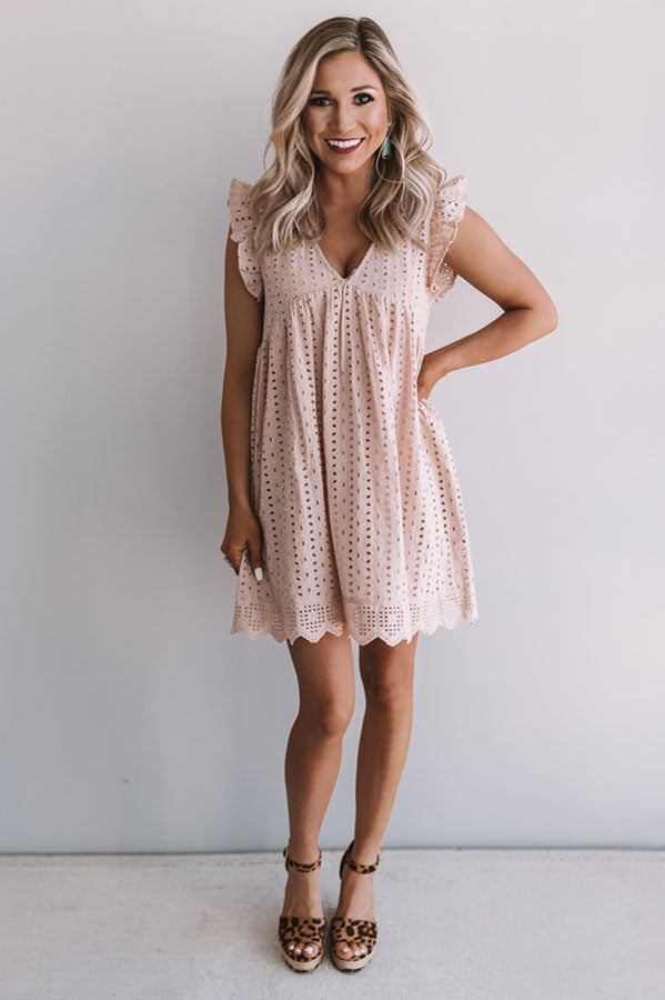 Sway Into Style Eyelet Romper in Natural