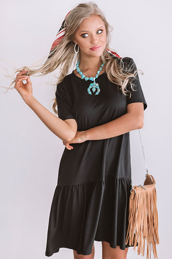 In Perfect Harmony Shift Dress In Black