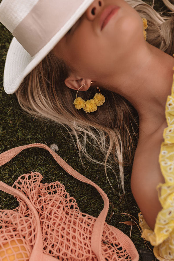 Sweet And Chic Earrings In Yellow