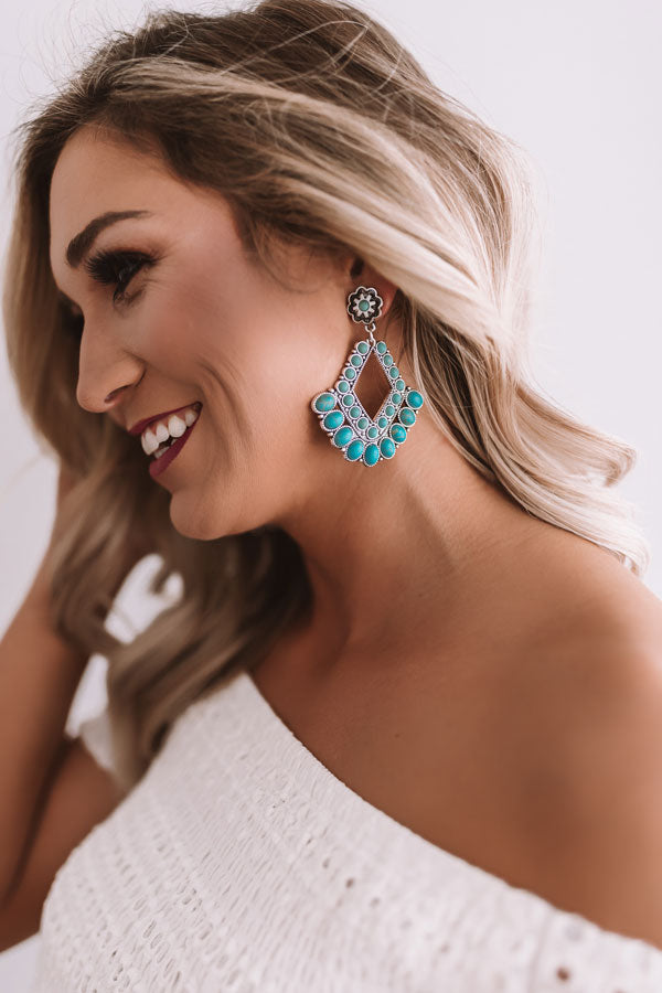 Shoreline Chic Earrings In Turquoise