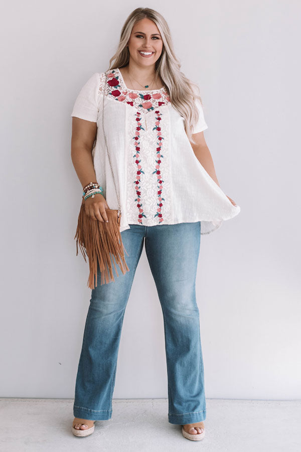 Seagrove Beach Embroidered Top