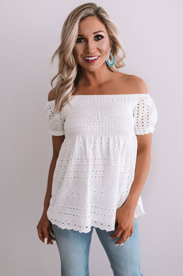 Beverly Hills Sunset Eyelet Top