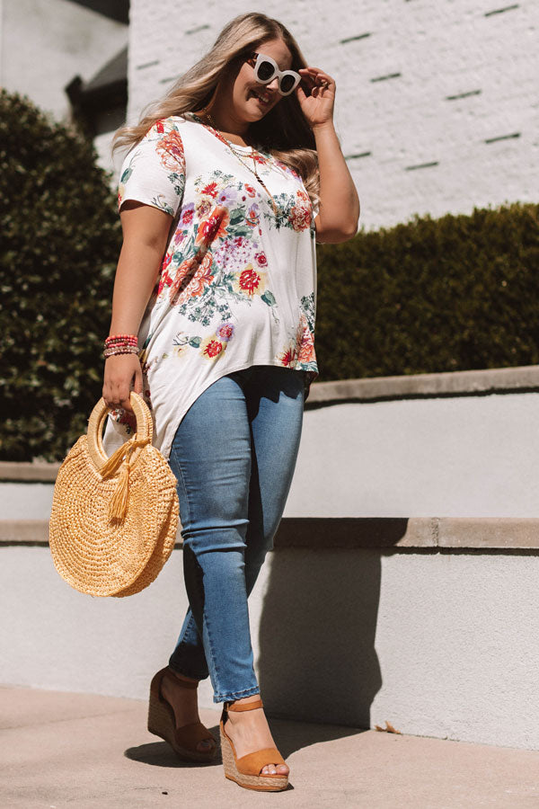 Floral Confessions Shift Tunic