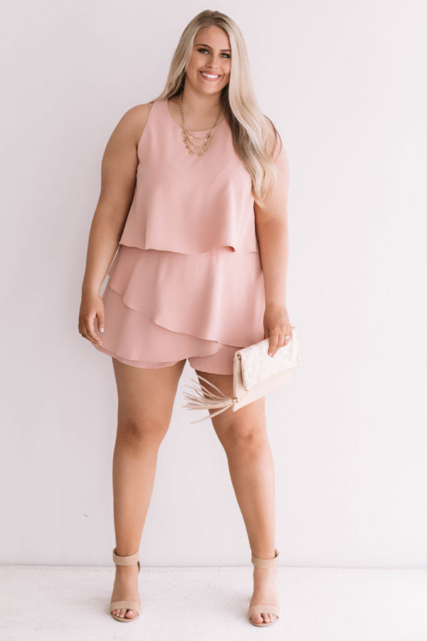 First Class At Fashion Week Tiered Romper