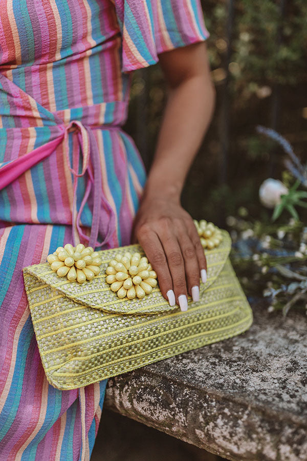 Cabo Cruise Clutch In Yellow