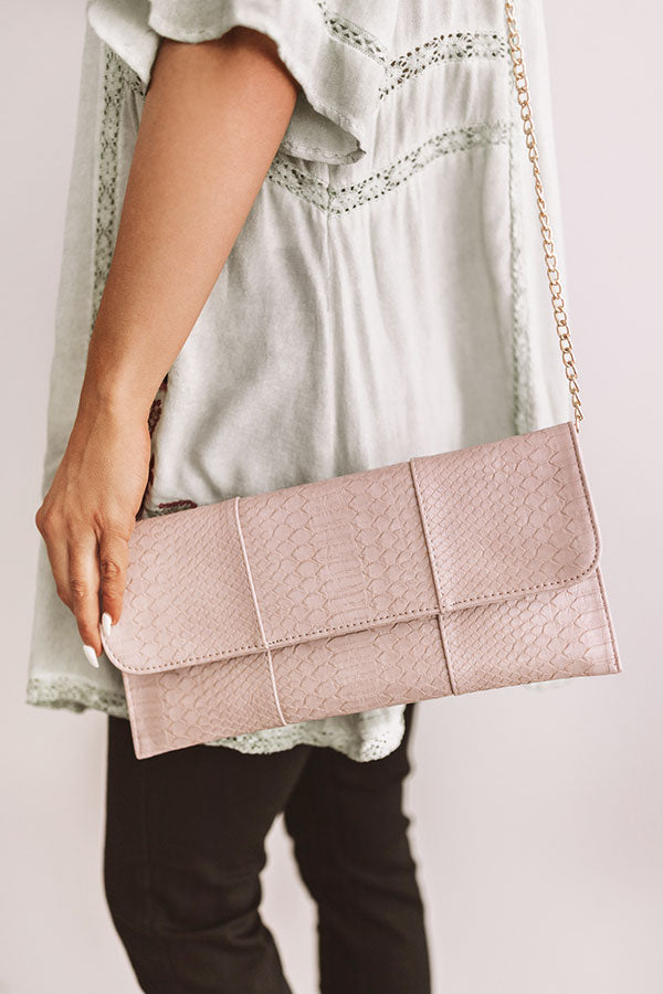 Influencer Fabulous Clutch In Blush