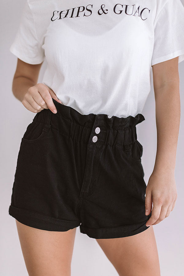 The Asher High Waist Shorts In Black