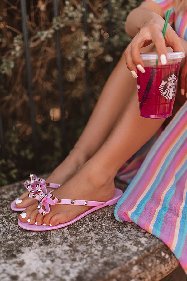 The Cecily Jelly Sandal In Pink