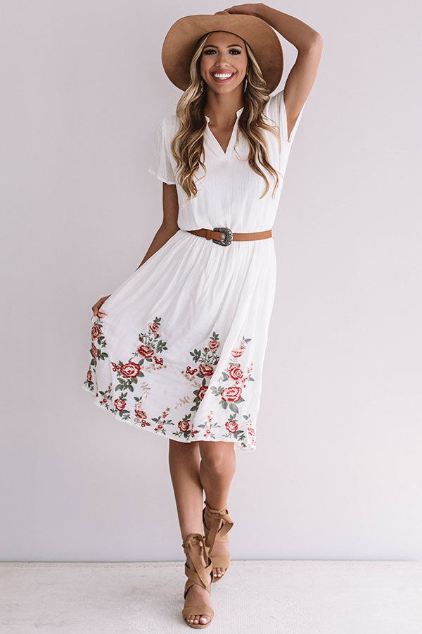 Caribbean Bliss Embroidered Midi