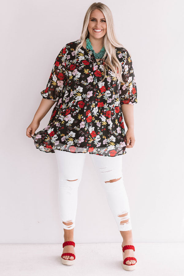 Botanical Beauty Tunic Dress