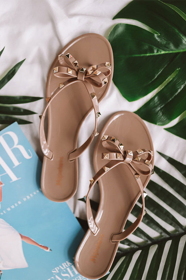 The Cecily Jelly Sandal In Taupe