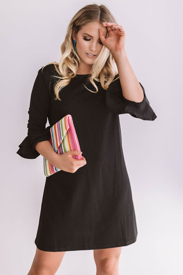 Dressed To Impress Shift Dress In Black