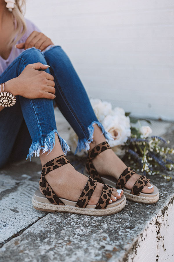 The Sundry Leopard Sandal