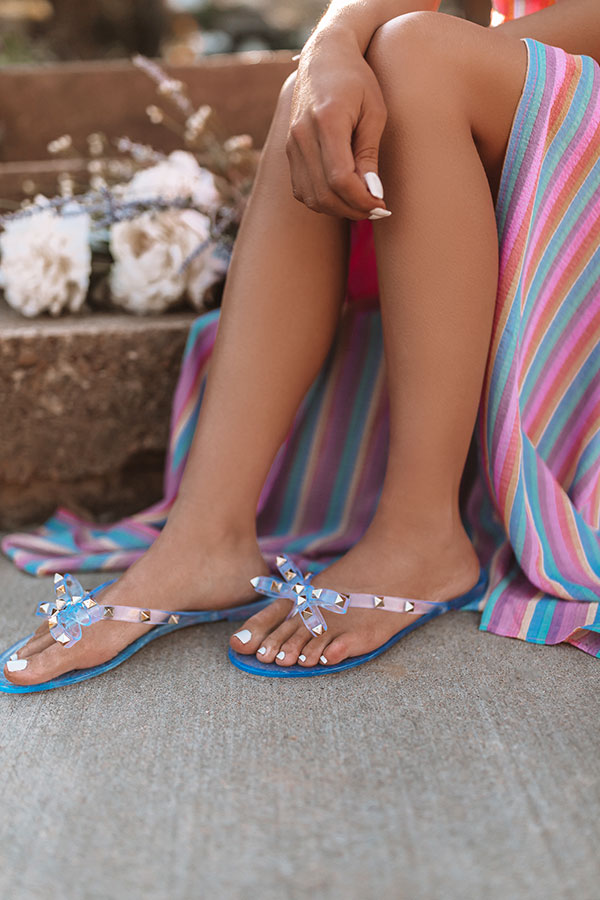 The Cecily Jelly Sandal In Clear