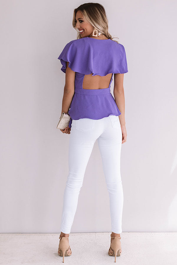 All The Goals Wrap Top In Ultra Violet