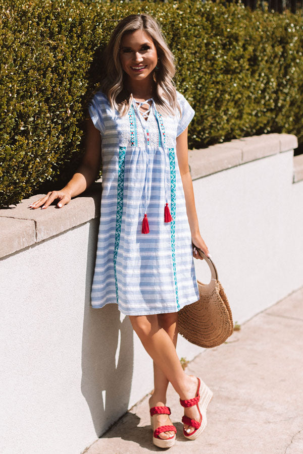 San Francisco Sun Embroidered Dress