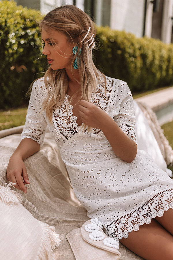 Private Beach Eyelet Dress