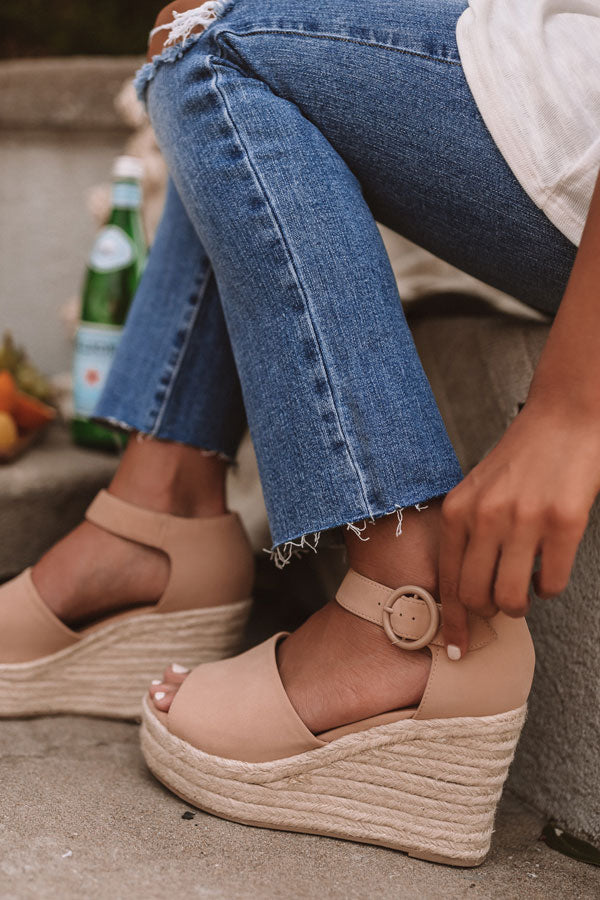 The Magnolia Espadrille Wedge In Latte