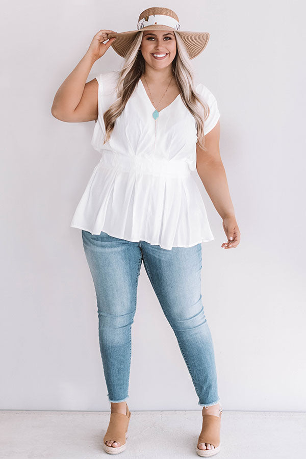 Definitely Darling Top in White