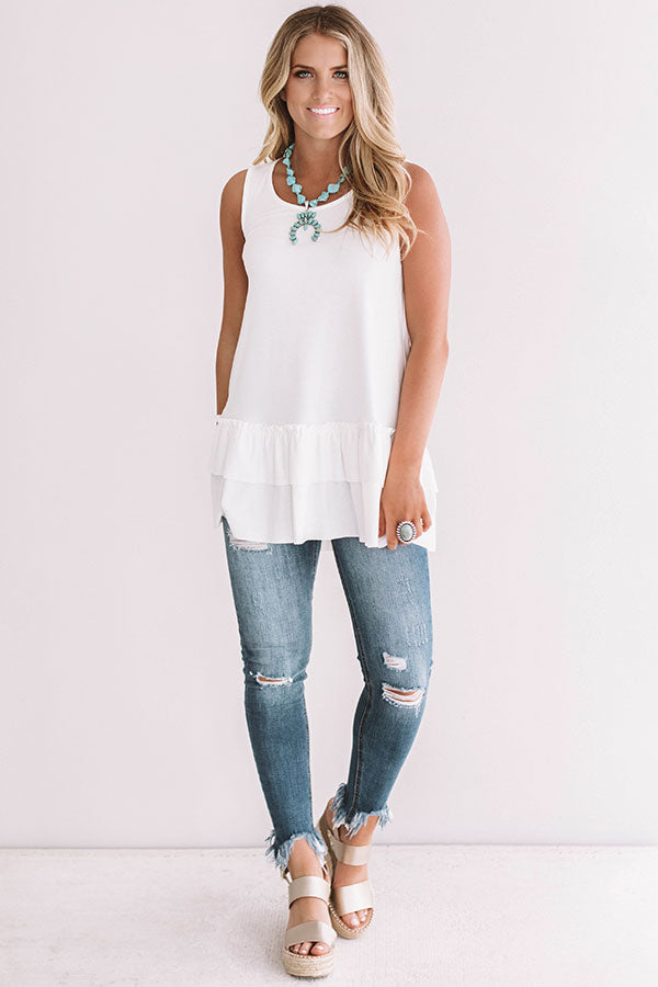 Simply Amazing Tunic Tank in Ivory