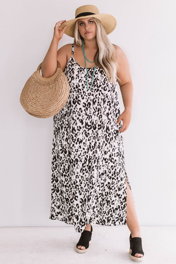 Influencer Fabulous Leopard Maxi in Black