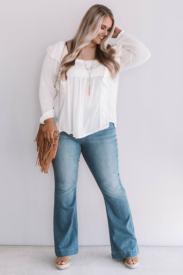 Charmingly Chic Shift Top Ivory