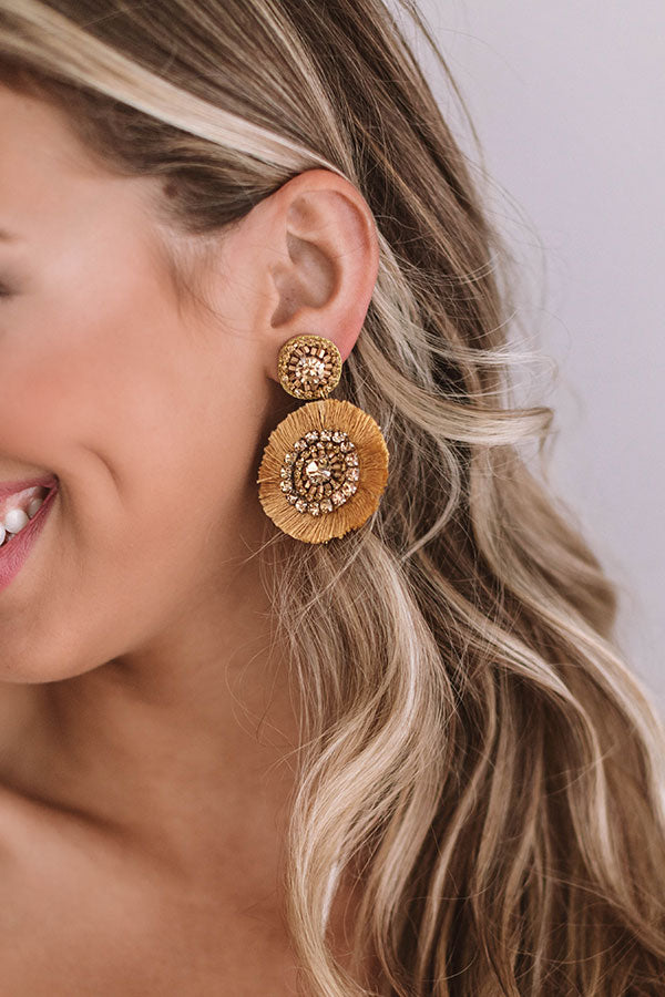 Sunny Daze Earrings In Khaki