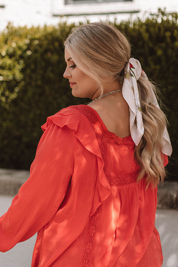 Charmingly Chic Shift Top In Scarlet