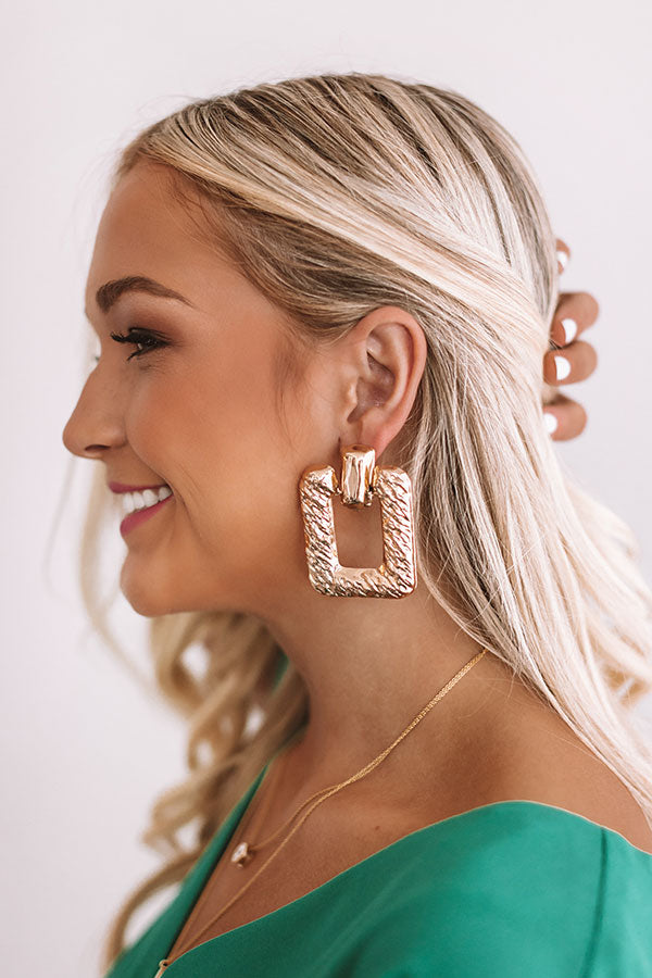 Seeking In Santorini Earrings In Gold