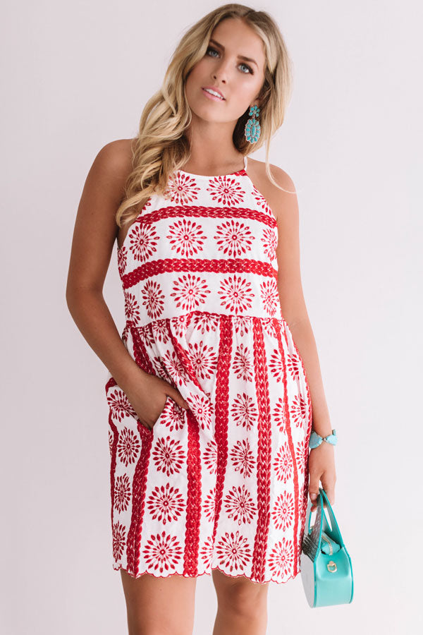 Santorini Breeze Eyelet Dress In White