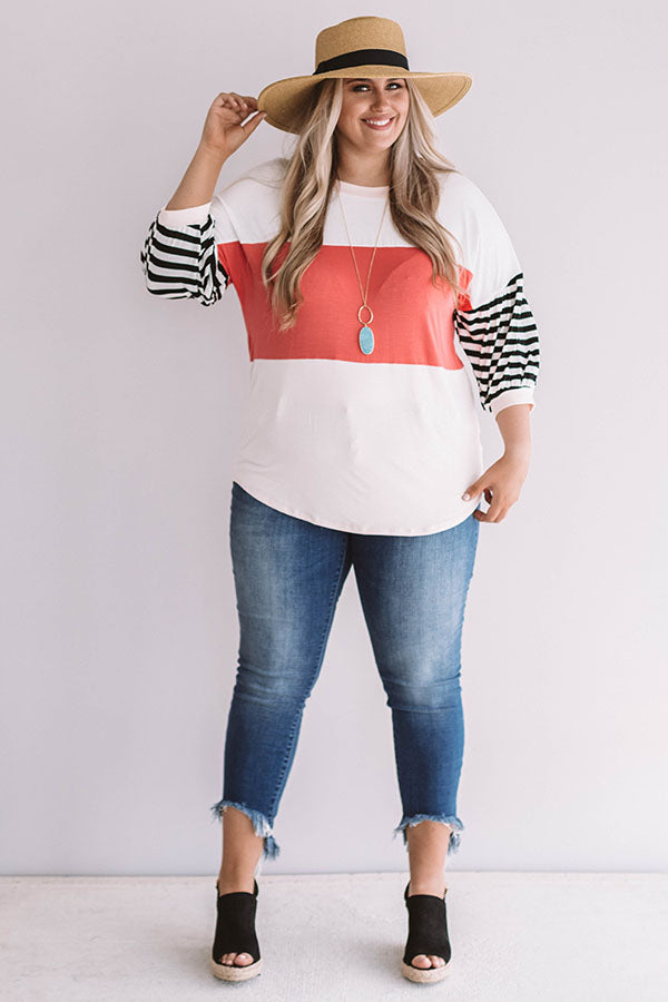 Perfectly Happy Color Block Shift Top
