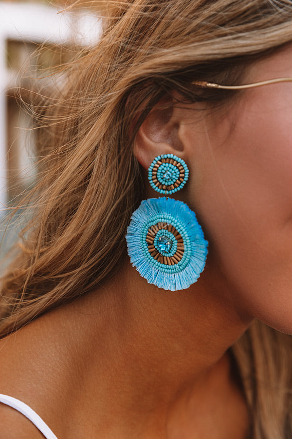 Backstage At Fashion Week Earrings In Aqua