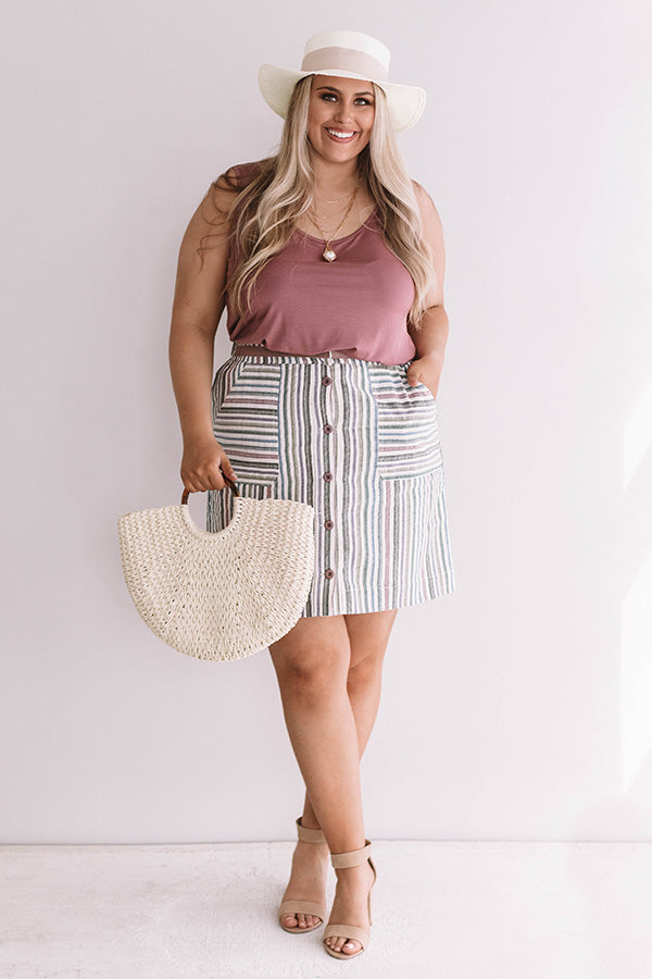 Good Company Stripe Skirt