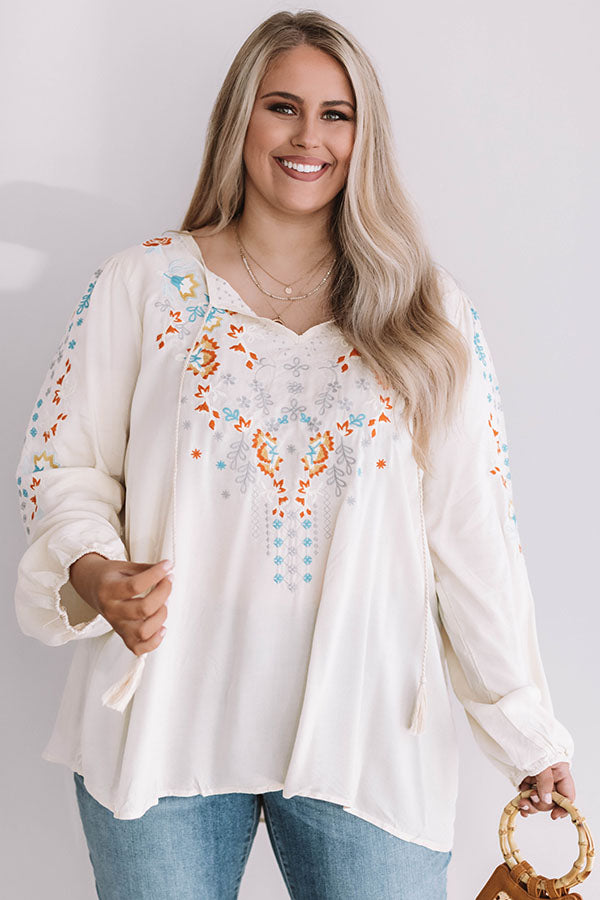 Crushing In Cozumel Embroidered Top