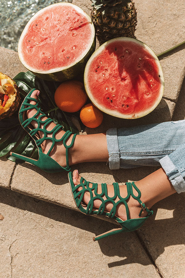 The Skylar Heel In Green