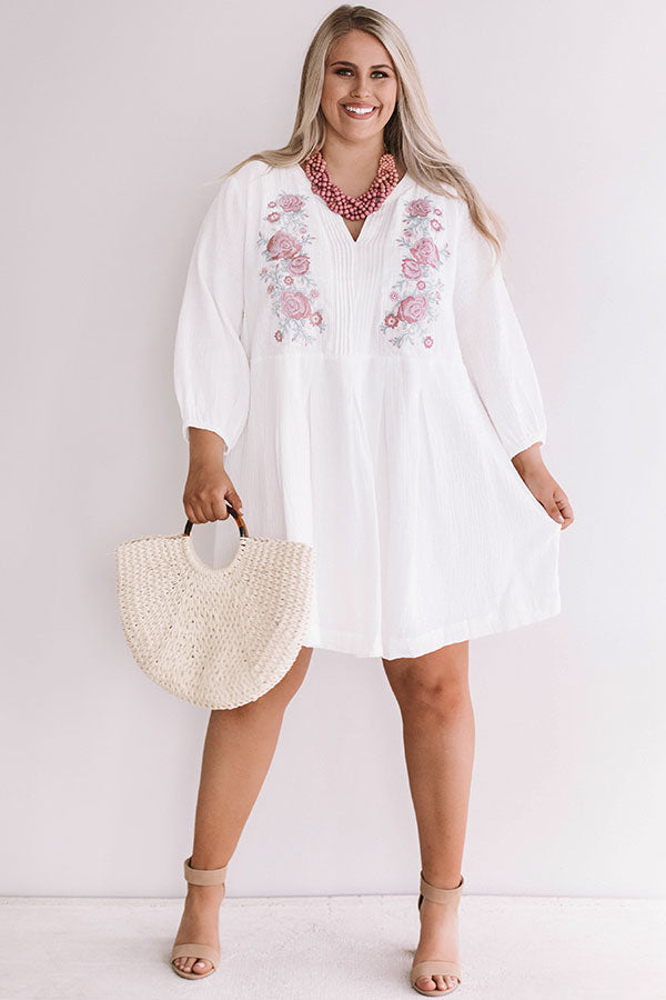 Beachside In Bali Embroidered Dress