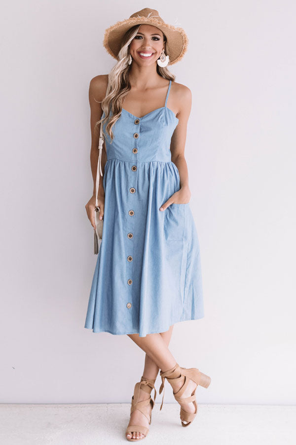 Sweeter In The South Chambray Midi