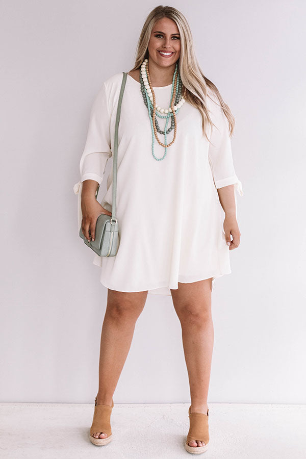 Central Park Perfection Shift Dress in Cream