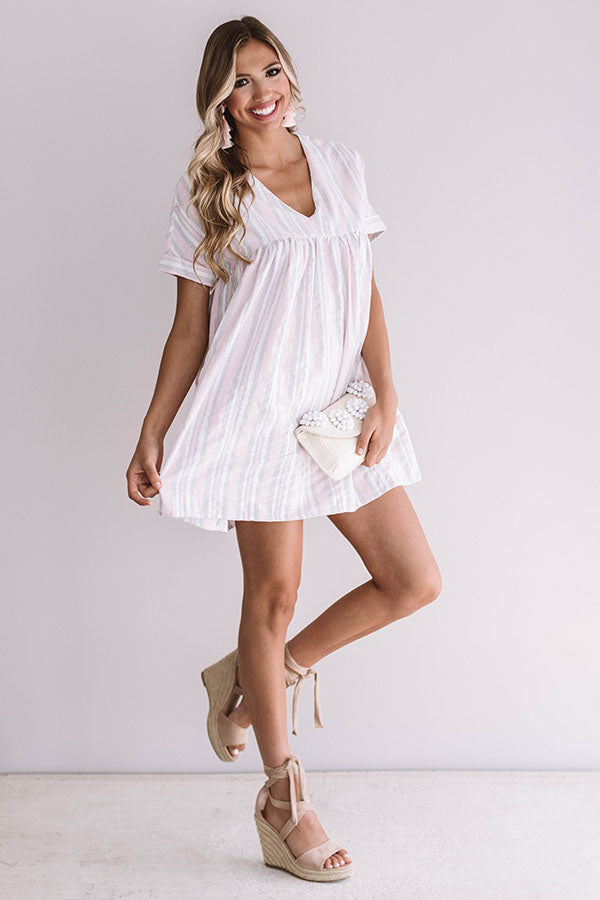 Bermuda Bombshell Babydoll Dress In Pink