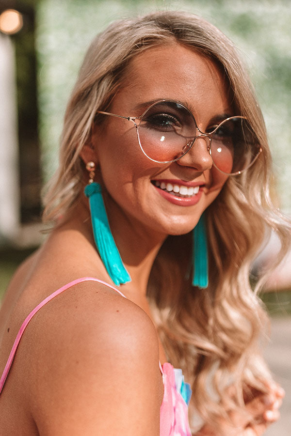Glam Vibes Sunnies In Rose Gold
