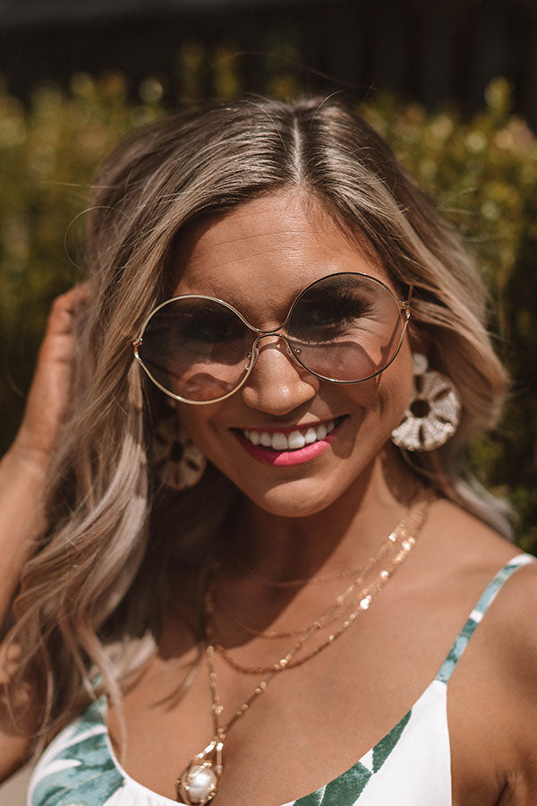 Glam Vibes Sunnies In Gold