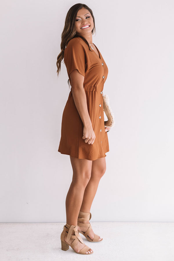 Setting The Trend Button Up Dress